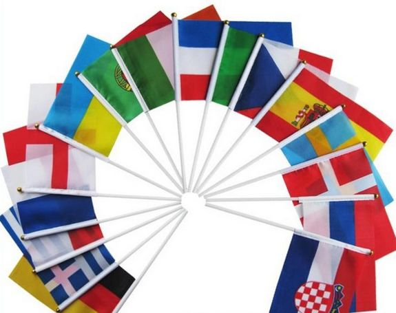 Cheap Price Sport National Hand Flags Custom