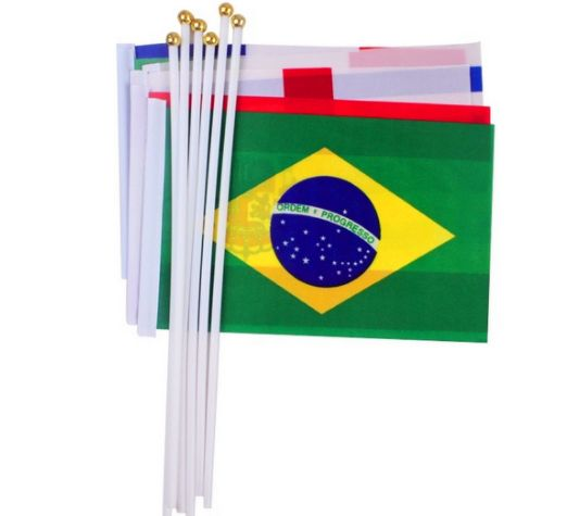 Top Quality Sport Game Hand Held Shaking Flags Custom