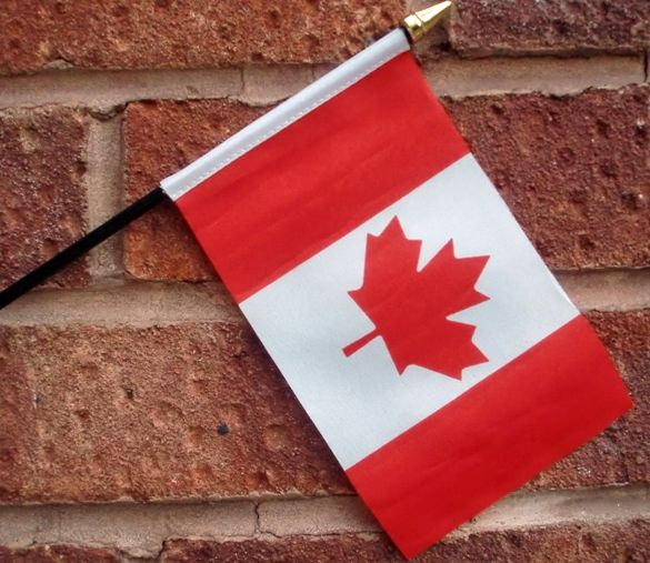 World Country Hand Held Canada Flag For Promotional