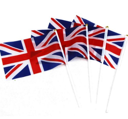 Custom Size Hand Waving UK Flag With Stick