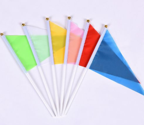 Promotional Colourful Polyester Hand Waving Stick Flags