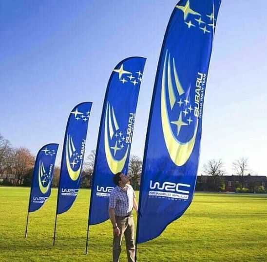 Printed Logo 15 Foot Swooper Feather Flags Wholesale
