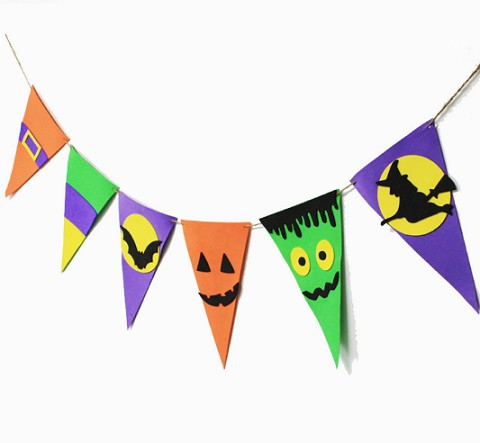 OEM decoration pennant triangle flag paper bunting