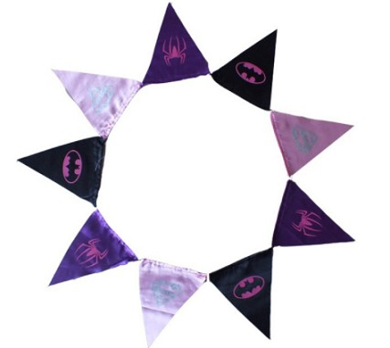 Hot sale cheap polyester fabric flags bunting for party