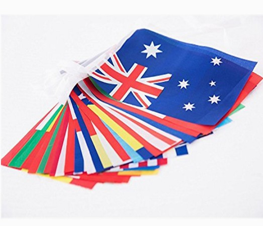 Decorative polyester England bunting hanging string flag