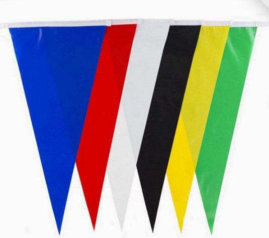 Custom Logo Hanging PVC Pennant Flags For Display