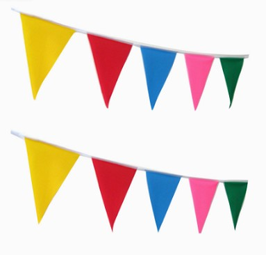 Cheap price custom size flags buntings for celebration