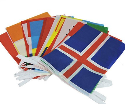All countries string flag custom national bunting flag