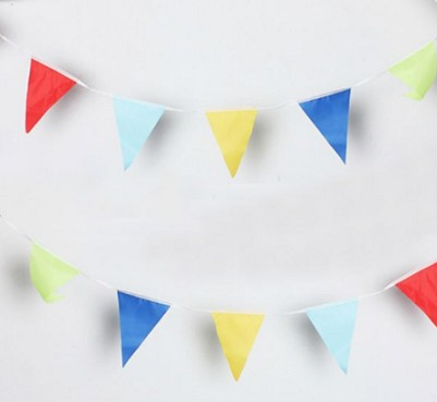 Factory Custom String Bunting Polyester Party Promotional Flag
