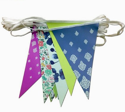 Colorful Party bunting string Pennant Flags Wholesale